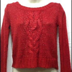 Junior's size Medium MUDD crop sweater
